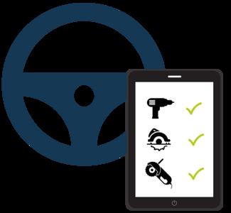 Icon Beladungskontrolle vom Lenkrad