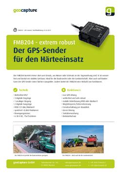 Robuster GPS-Sender FMB204