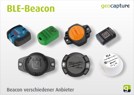 Beacons unterschiedlicher Hersteller zur Ortung von Werkzeugen
