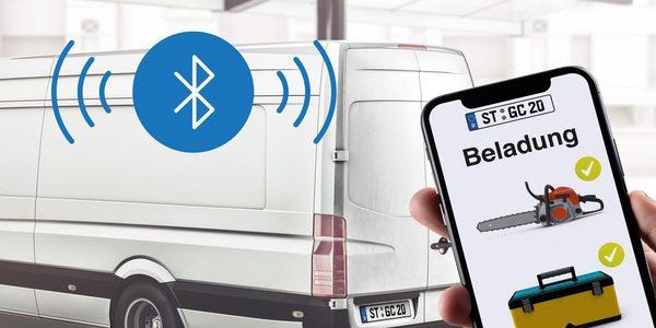 Transporter, Beladungskontrolle über ein Smartphone über Bluetooth