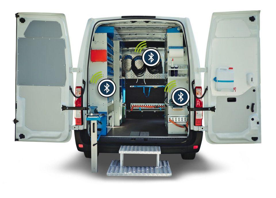 Über Beacon wird die Fahrzeugbeladung in einem Van erkannt