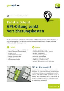 Versicherungskosten durch GPS-Ortung senken