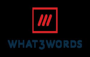 Logo what3words hilft dort wo eine Postanschrift nicht reicht.