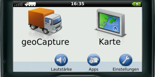 Garmin Navigation mit geoCapture