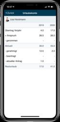 Urlaubskonto in der mobilen App