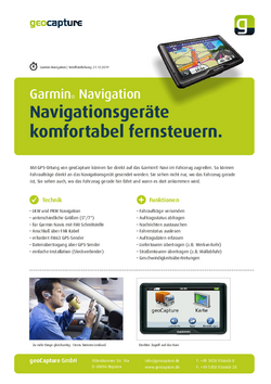 Mit geoCapture auf Garmin Navigation zugreifen
