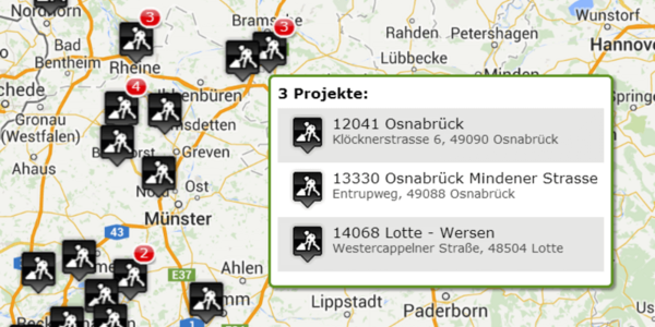 Screenshot Kartenansicht geoCapture