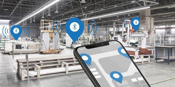Über ein Smartphone oder Tablet können Objekte innerhalb eines Gebäudes geben lokalisiert werden