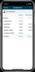 Stundenkonto in der App einsehen