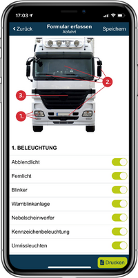 Abfahrtkontrolle per App