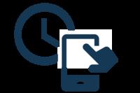 Icon Zeiterfassung über die mobile App