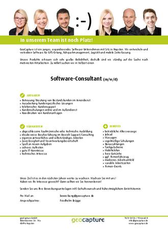 Stellenanzeige Software-Consultant