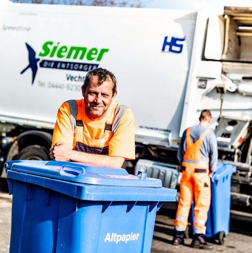 Mitarbeiter der Siemer Entsorgungs-GmbH