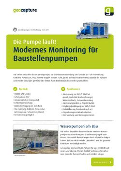 Modernes Monitoring für Baustellenpumpen